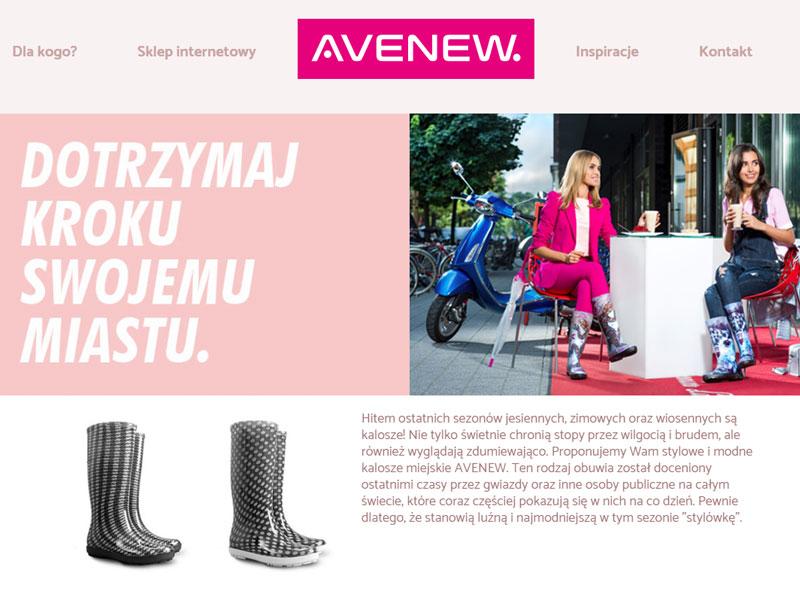 Kolekcja kaloszy damskich AVENEW - moda i miejski styl